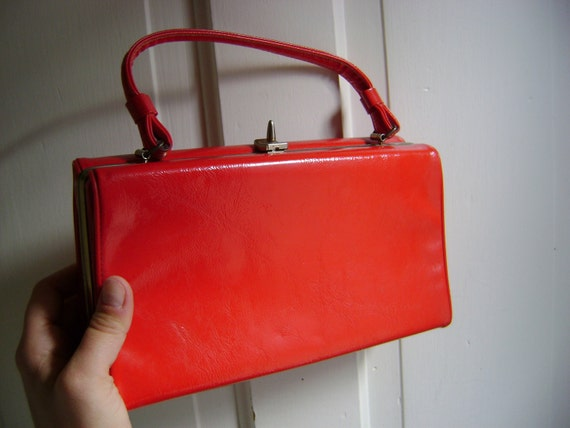 Vintage 1950s Cherry Red Purse/Rockabilly