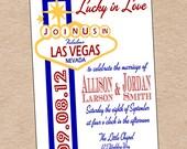 Las Vegas Wedding Invitation or Save the Date- DIY Printable