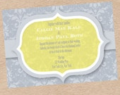 Custom Printable Damask Wedding, Shower, or Save the Date Invitation