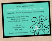 DIY Love Birds Wedding, Engagement, or Bridal Shower invitation