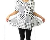 vintage babydoll dress kawaii black polka dot tee with peplum skirt