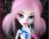Monster High Fur Wig / Fairy Floss style / synthetic fur wig / made-to-order