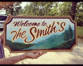 Hand-painted Custom Sign for Home