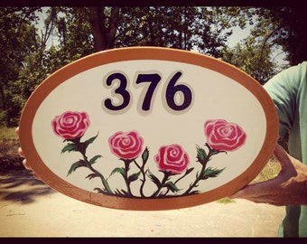 Hand-painted Custom Made Sign for your Home or Driveway