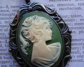Vintage inspired cameo pendant