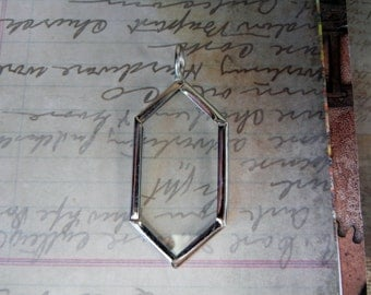 Nickle finish glass pendant