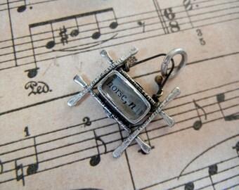 Resin horse charm pendant