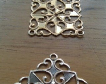 Gold Square Pendants