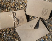 Owl Natural Note w/ Envelope