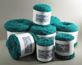 Teal yarn, lambswool/angora/nylon blend, upcycled recycled Ladies sweater from The Limited blue-green
