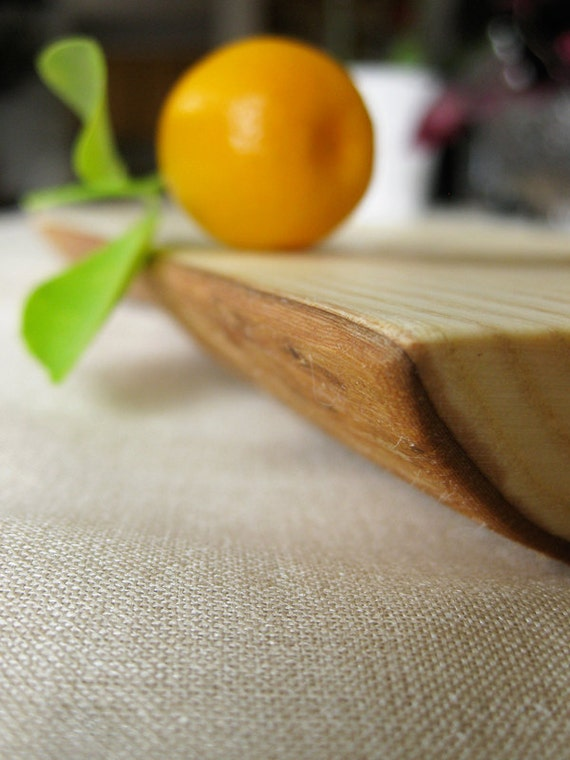 Long wood live edge platter - reclaimed ash serving tray breadboard cheeseboard eco rustic kitchen P127