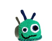 Lopsided Little Monster Hat for Child, Toddler, or Baby