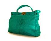 leather bag purse turquoise -.- the Lana big -.-