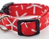 Red Starfish Dog Collar