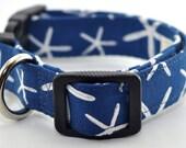 Blue Starfish Dog Collar