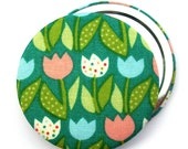 Fabric Compact Mirror/ Pocket Mirror/ Handbag Mirror, perfect for gifts, wedding favours & party bag fillers