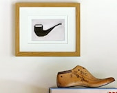 Cross stitch kit - pipe - beginner easy modern stylish mid-century DIY holiday gift