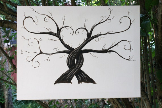 Wedding Thumbprint Trees - Alternative Guest Book