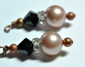 Crystal and Pearl Interchangeable Earring Charm