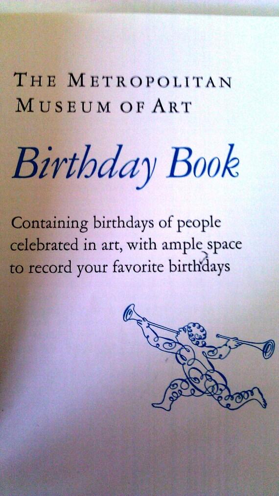 The Metropolitan Museum of Art Birthday Book NEW
