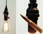 NEW DESIGN Vintage bullet upcycled industrial pipe pendant