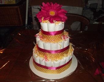 Daisy Diaper Cake
