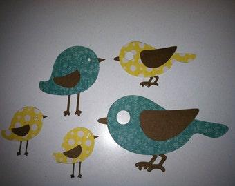 Birdies-diecut birds-scrapbook embellishment-easter decoration