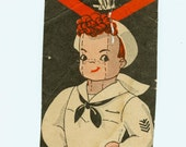 Antique 1940s Sailor Boy Doll Pattern Sewing Americana Armed Services Red Hair