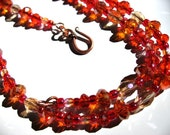 Coquelicot - blazing red-orange Swarovski Crystal - Color Enchanted Euphoria - FREE SHIPPING