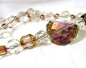 Purple Haze Swarovski Twist necklace - Color Enchantment for Romance - FREE SHIPPING