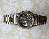 Steampunk wristwatch bracelet Resin Gear Bracelet Steampunk Watch Gear Watch Steampunk Bracelet Steampunk Jewelry Mixed Media Art