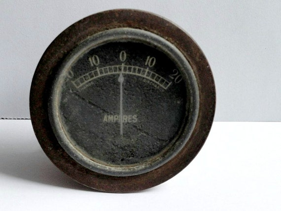 Steampunk Amp Meter - Steampunk Supplies - Volt Meter - Antique Vintage Amp Meter -Industrial