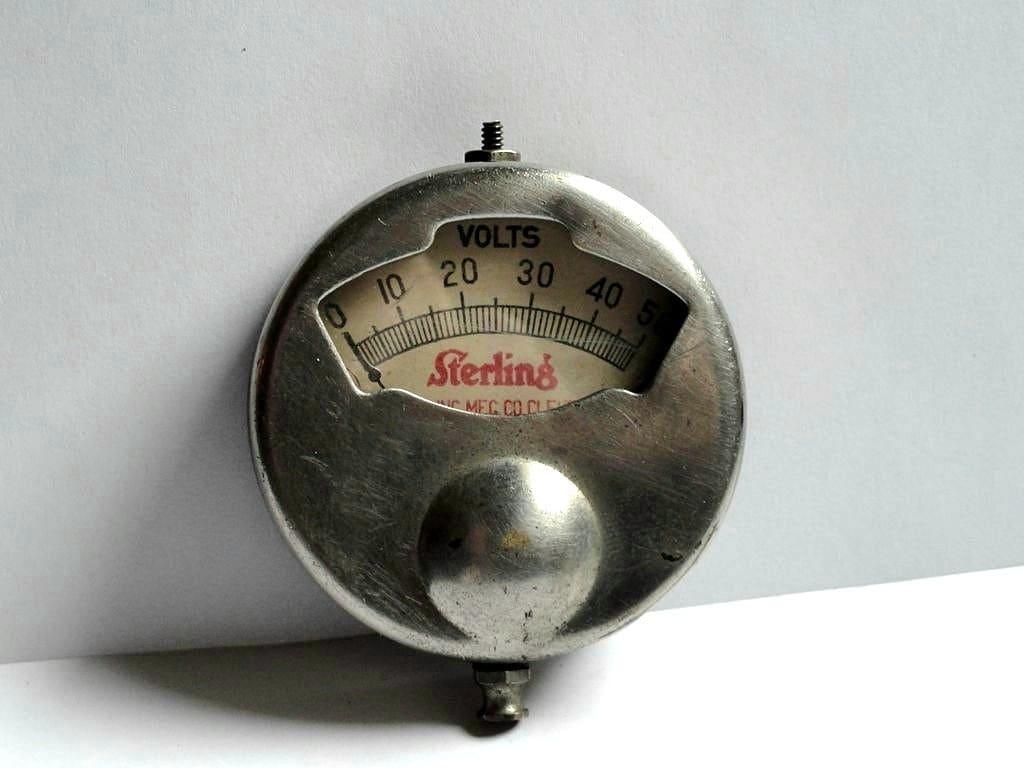 Antique Volt Meter : Antique sterling volt meter steampunk industrial