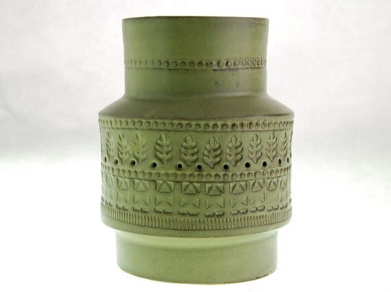 Bitossi Green Vase