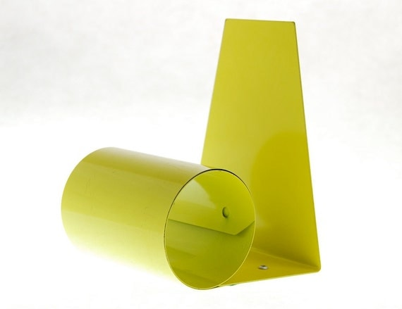 Vintage Mod Yellow Expanding Metal Bookends