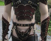 Leather Armor Ornate gothic  set