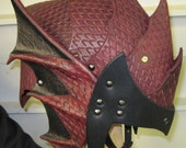 Leather Armor Gothic Dragon Scale Helmet