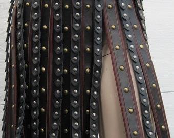 Leather Armor Deluxe Roman Gladiator War Skirt