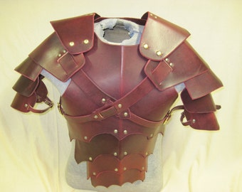 Leather Armor Gothic chest back & shoulders