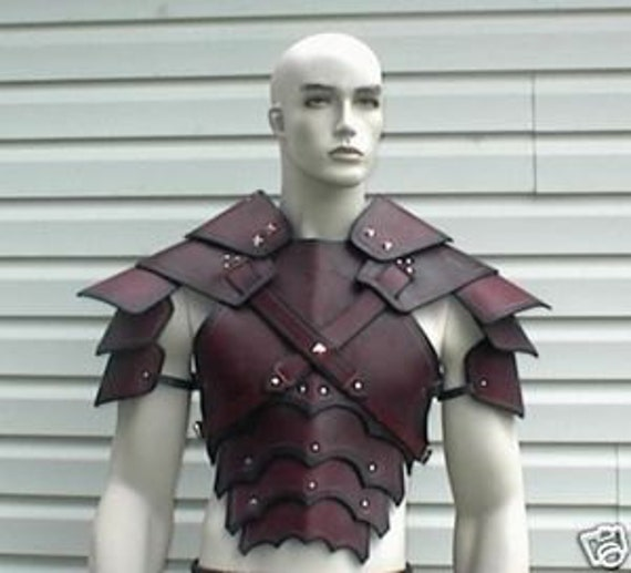 Leather Armor Sentinel chest back & shoulders