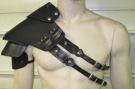 Leather Armor Sentinel Segmented Double Strap Shoulder