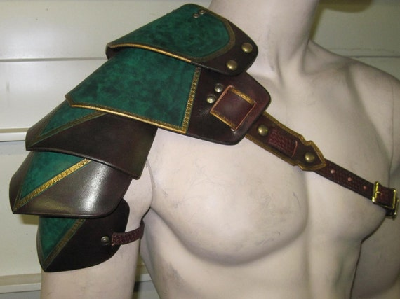 Leather Armor Ornate Gothic shoulder