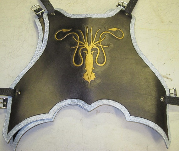 Leather Armor Ornate gothic chest & back with your graphic