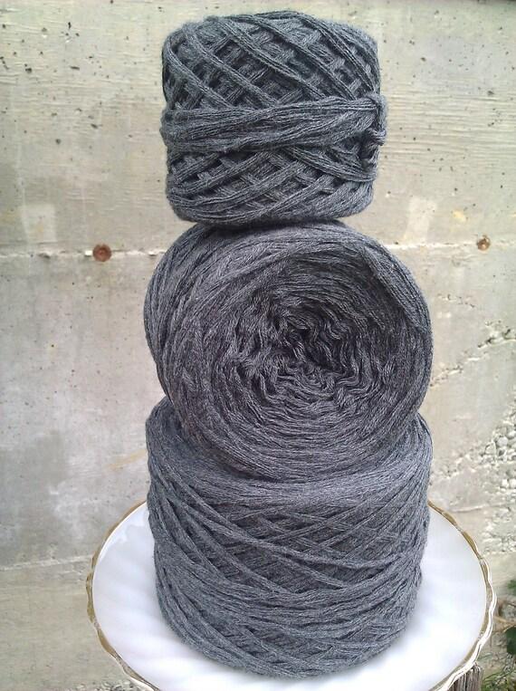 Charcoal Grey Reclaimed Super-Bulky Cotton Yarn - 331 yards