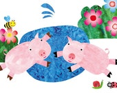 Nursery wall art, kids room decor, baby nursery decor, art for children,baby farm animals, baby art - 8x10 Nursery Print