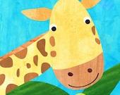 Baby wall art, kids room decor, nursery art, nursery decor, baby nursery print, kids art  - Giraffe baby  print -  8x10 Nursery Print