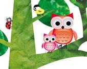 Nursery art print, baby nursery print, nursery decor, kids art, kids room decor, nursery wall art, owl nursery art, 8x10 nursery print