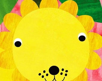 Nursery Decor,Nursery art, Art for kids room,Baby nursery art, wall art children, baby art, nursery art print-Baby Lion - 8x10 Nursery Print