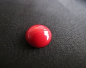 Free Shipping-Sea Bamboo Red/Orange Coral 6 mm up to 14 mm Calibrated Round Cabochon for Jewellery making supplies