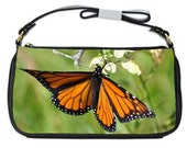"Ladies Leather Clutch Bag "" Orange Butterfly"""